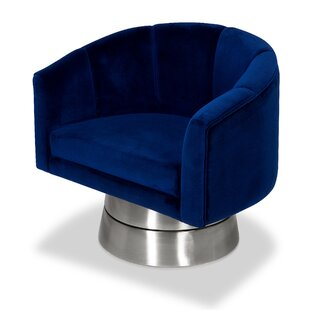 Lafrance Swivel Barrel Chair by Everly Quinn Best #1