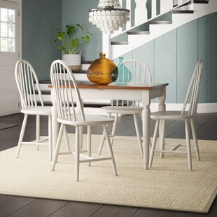 Westwood 5 Piece Solid Wood Dining Set Breakwater Bay