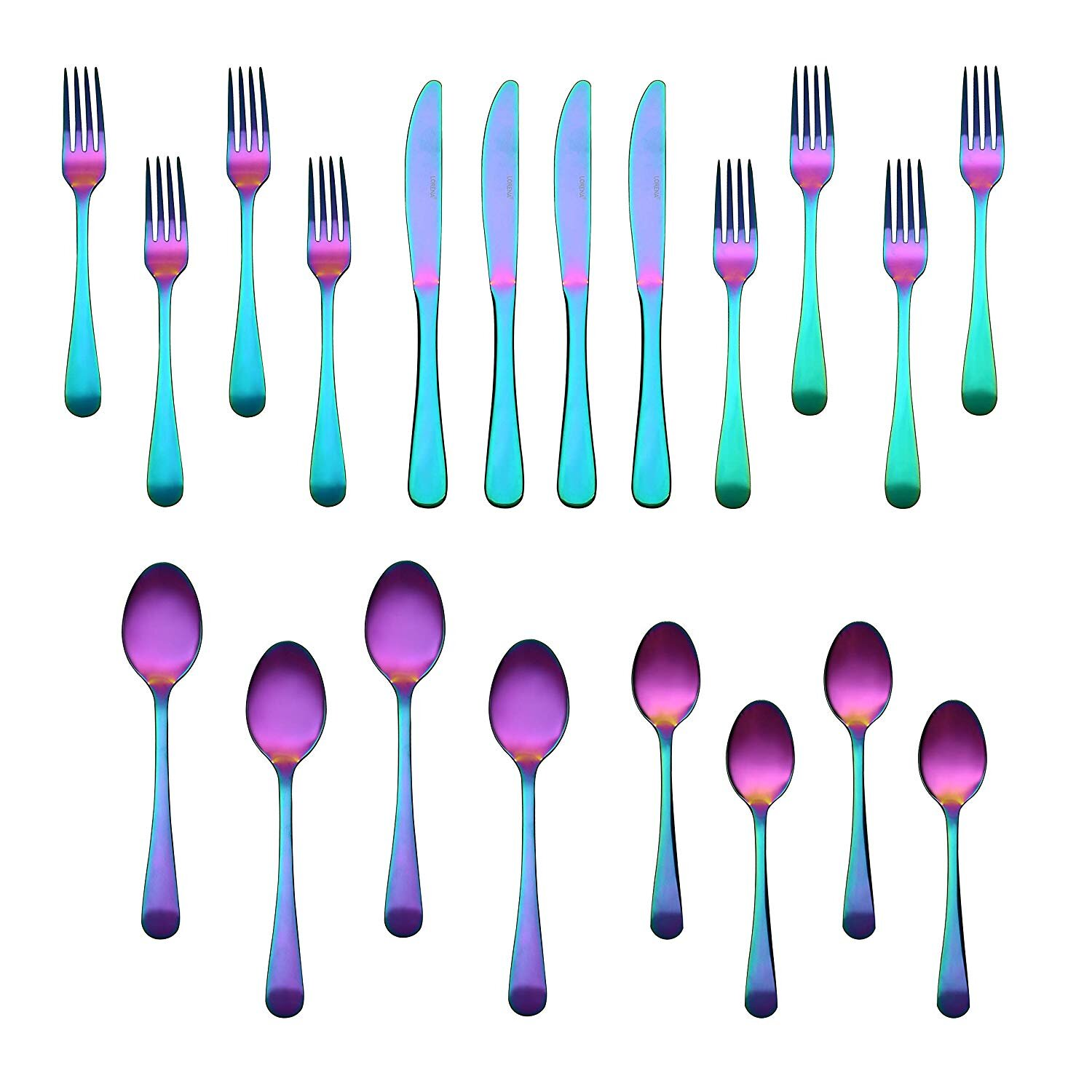 Home 9-piece Portable Tableware Durable Flatware Sets Dishwasher Safe Cutlery