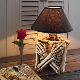 Rest in Peace Gothic Skeleton 15 Table Lamp