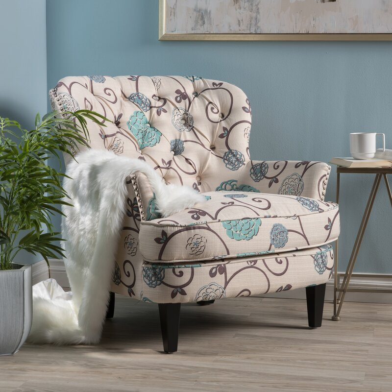 Andover Mills Hamburg Floral Armchair Amp Reviews Wayfair