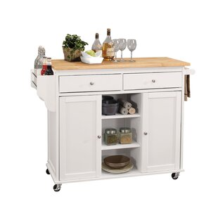 Dollis Kitchen Island with MDF Top Charlton Home