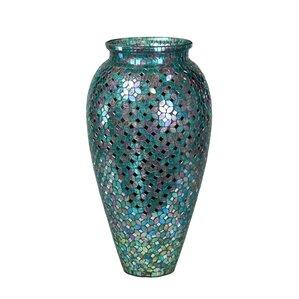Ariadnee Mosaic Gl Floor Vase