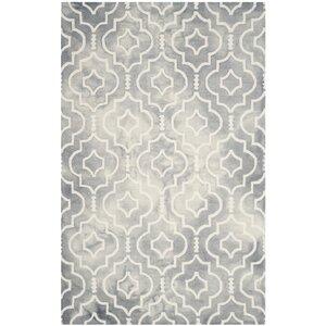 Berman Dip Dye Gray/Ivory Area Rug