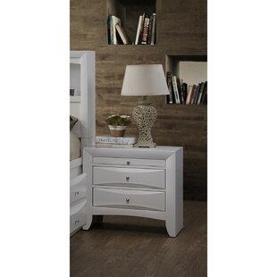 Oleana Elegant 2 Drawer Nightstand