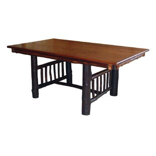 Quillen Trestle Solid Wood Dining Table Loon Peak