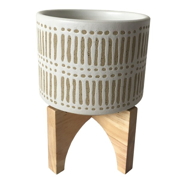 Beige Arleen Pot Planter by Allmodern
