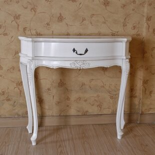 Adelinna Hand Carved Antique White Console Table