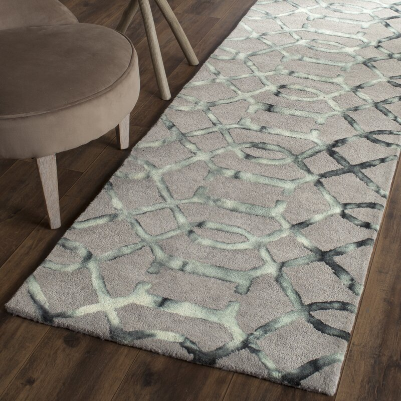 Kinder Hand Tufted Gray Charcoal Wool Area Rug