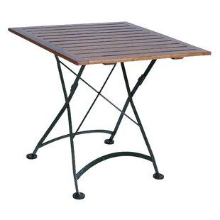 European Caf? Folding Wood Dining Table b..