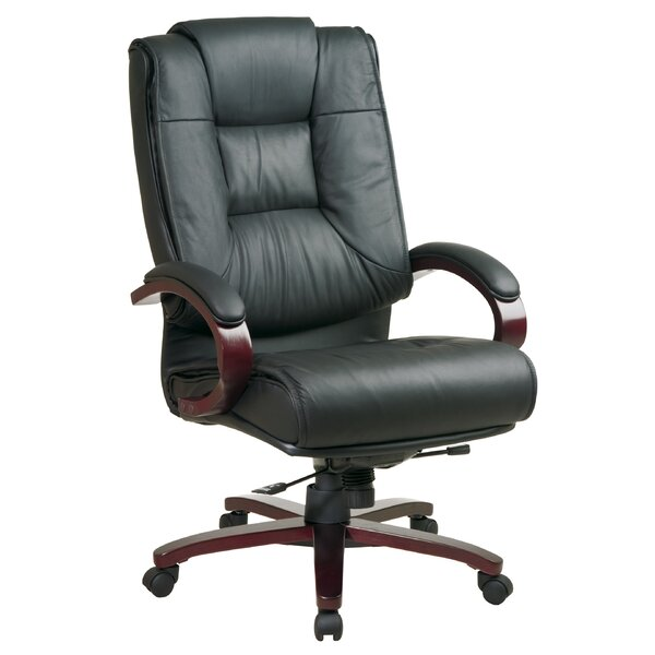 Office Star Pro Line II Series High Back Leather Executive Chair