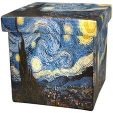 Van Gogh Starry Night Storage Ottoman by Oriental Furniture