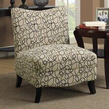 Swirl Fabric Slipper Chair by Monarch Specialties Inc.