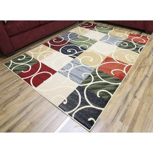 Passion Cream/Green Area Rug