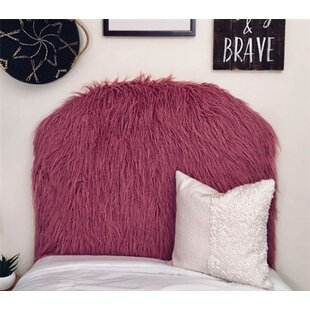 Reviews Horvath Curly Yak Rosewood Arched Twin/Twin XL Upholstered Panel Headboard by Zoomie Kids