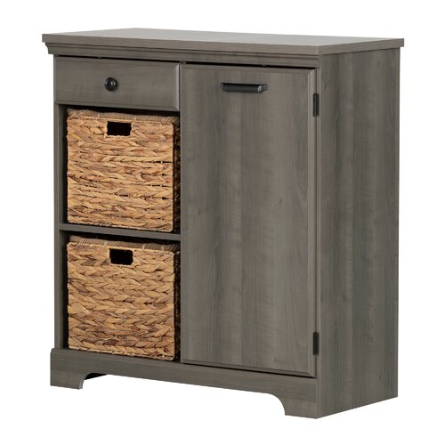 Versa Bathroom Chest of Drawers with 3 Baskets White