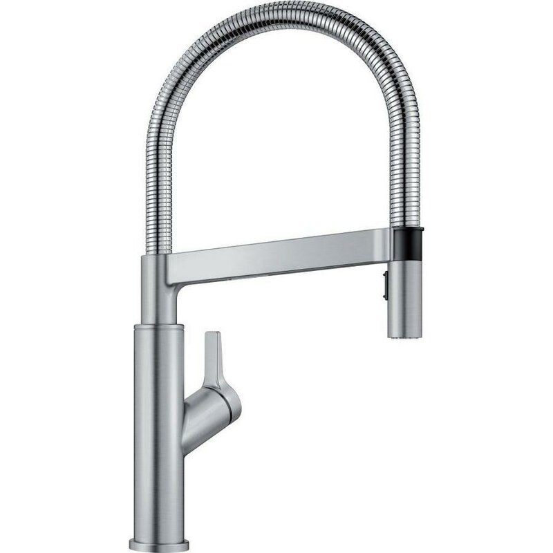 Blanco Solenta Touch Single Handle Kitchen Faucet  Finish: Stainless
