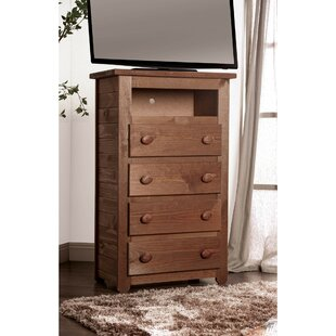 Lucienne Wooden 4 Drawer Media Chest
