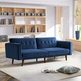 Pierpoint Velvet 84.2 Square Arm Sleeper by George Oliver