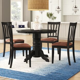 Langwater 5 Piece Pedestal Dining Set Beachcrest Home