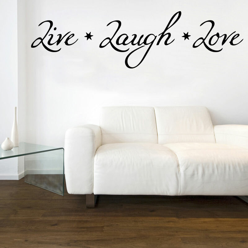 East Urban Home Live Laugh Love Design 1 Quote Wall Sticker Wayfair Co Uk