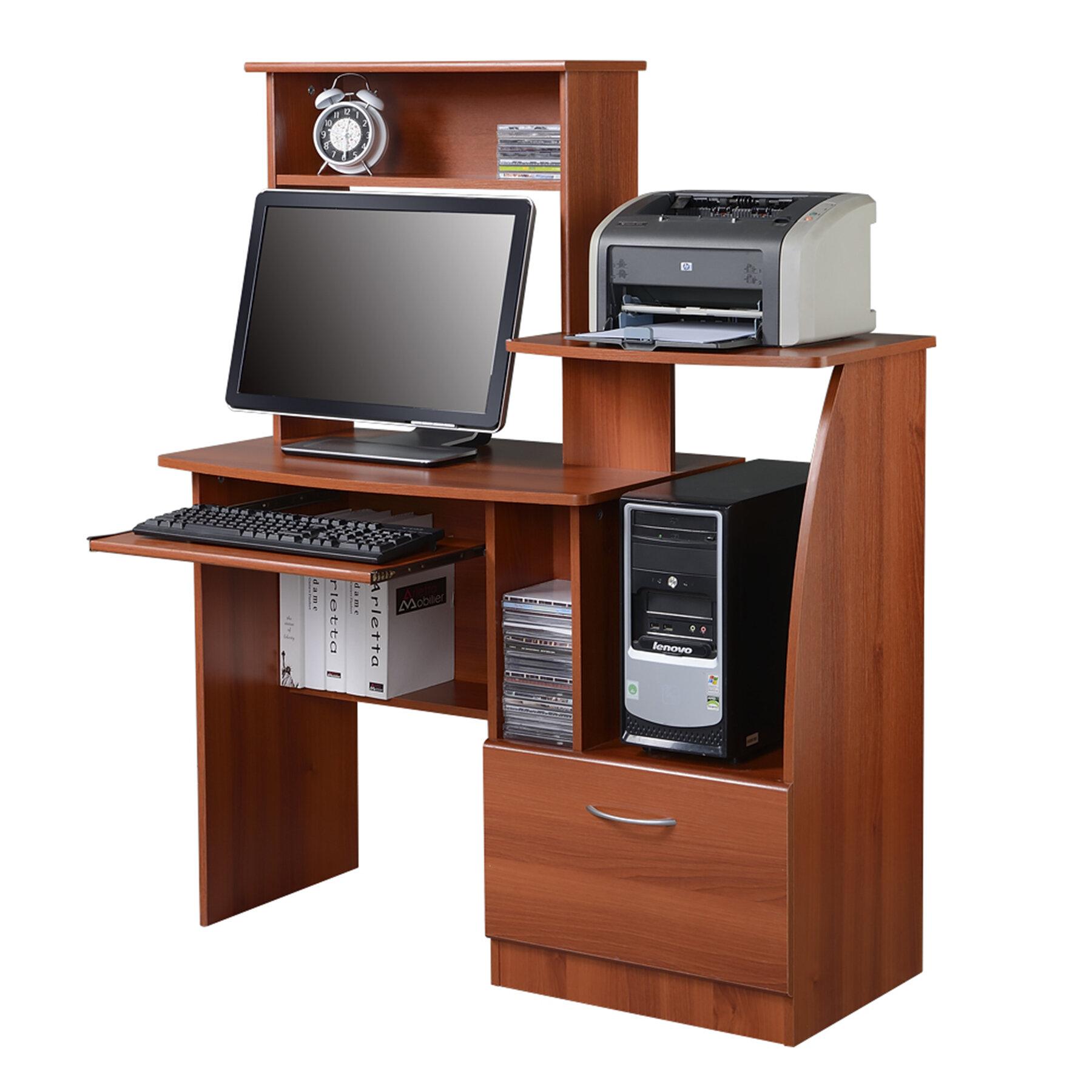 Aliso Computer Desk With Hutch