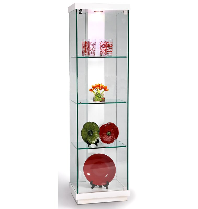 Captivating Lighted Curio Cabinet