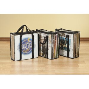 Vinyl Record Carrying Case Multimedia (Set of 3) by Miles Kimball