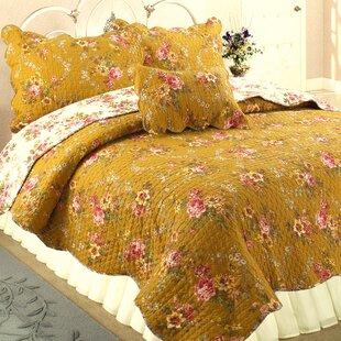 Pinegar 100% Cotton 3 Piece Reversible Quilt Set