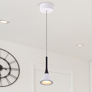 Orren Ellis Shrock 1-Light LED Cone Pendant