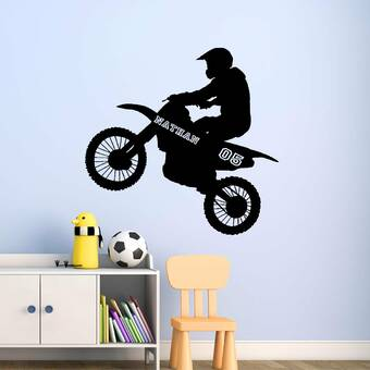 Motocross Motorbike Dirtbike Personalised Word Art Print Christmas Birthday Gift