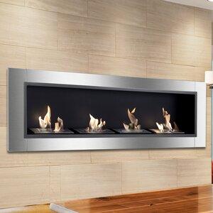 Accalia Wall Mounted Ethanol Fireplace
