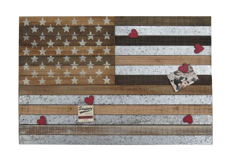 Horizontal Wooden American Flag Wall Decor