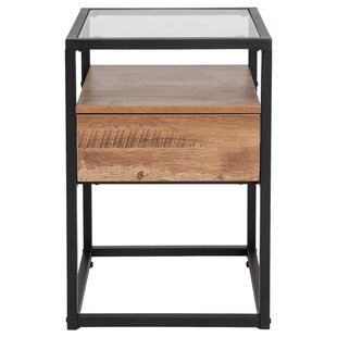 Affordable Price Riaan End Table with Storage By Union Rustic