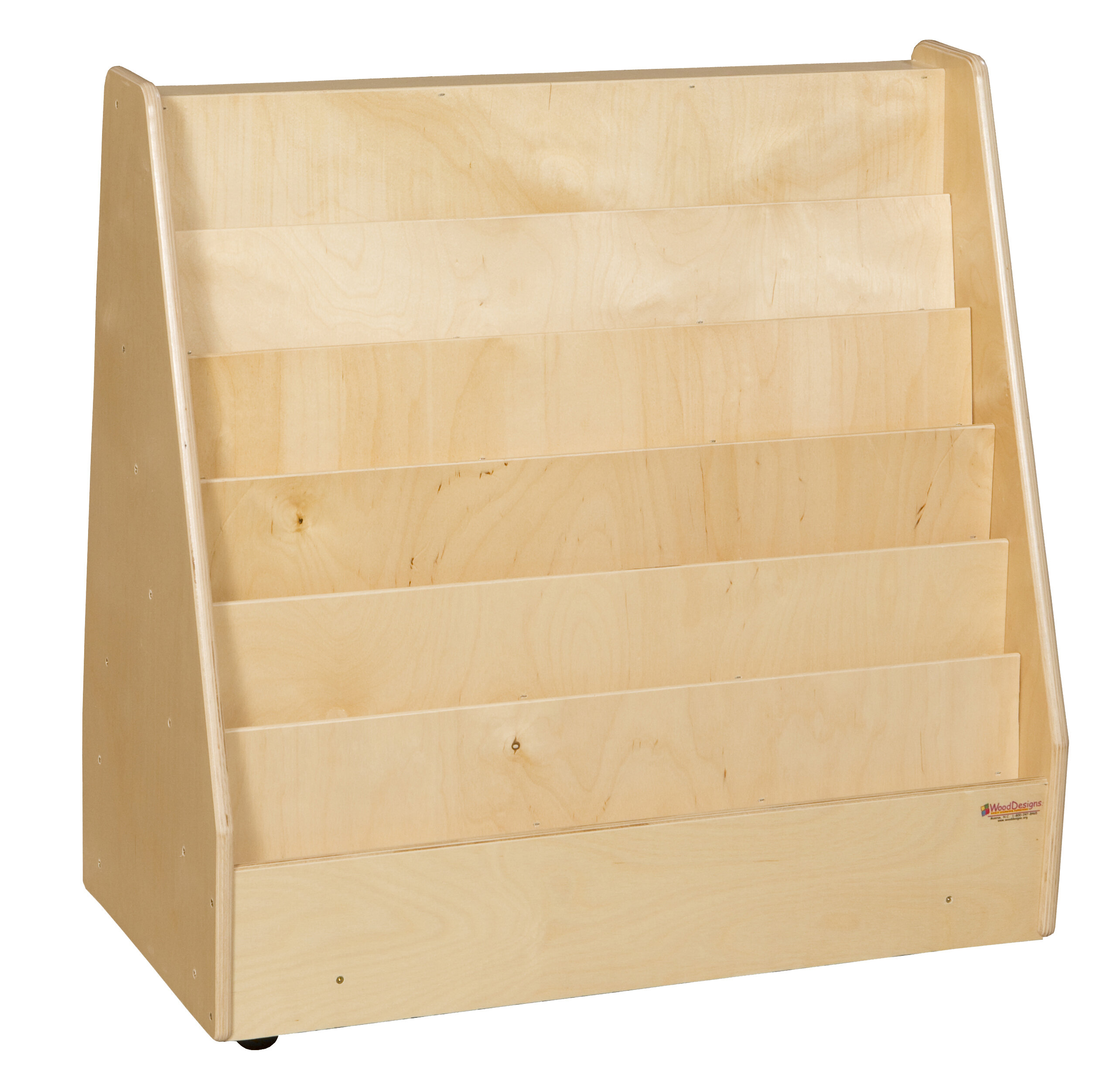 Wood Designs Double Sided 6 Compartment Book Display With Casters Wayfair