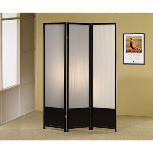 Dantzler 3 Panel Room Divider by Wrought Studio
