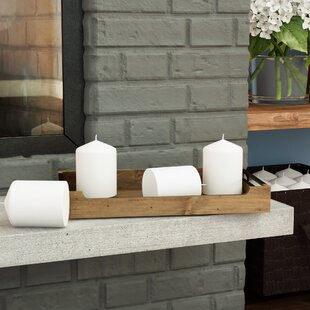 Pressed and Over-Dipped Unscented Pillar Candle (Set of 12)