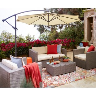 Mccarley Garden 5 Piece Sofa Set with Cushions
