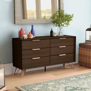 Lininger 6 Drawer Double Dresser