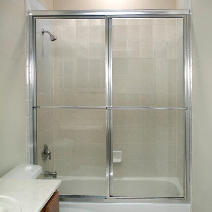 Coastal Industries Newport Series 55 W X 57 H Sliding Framed Tub Door Reviews Wayfair