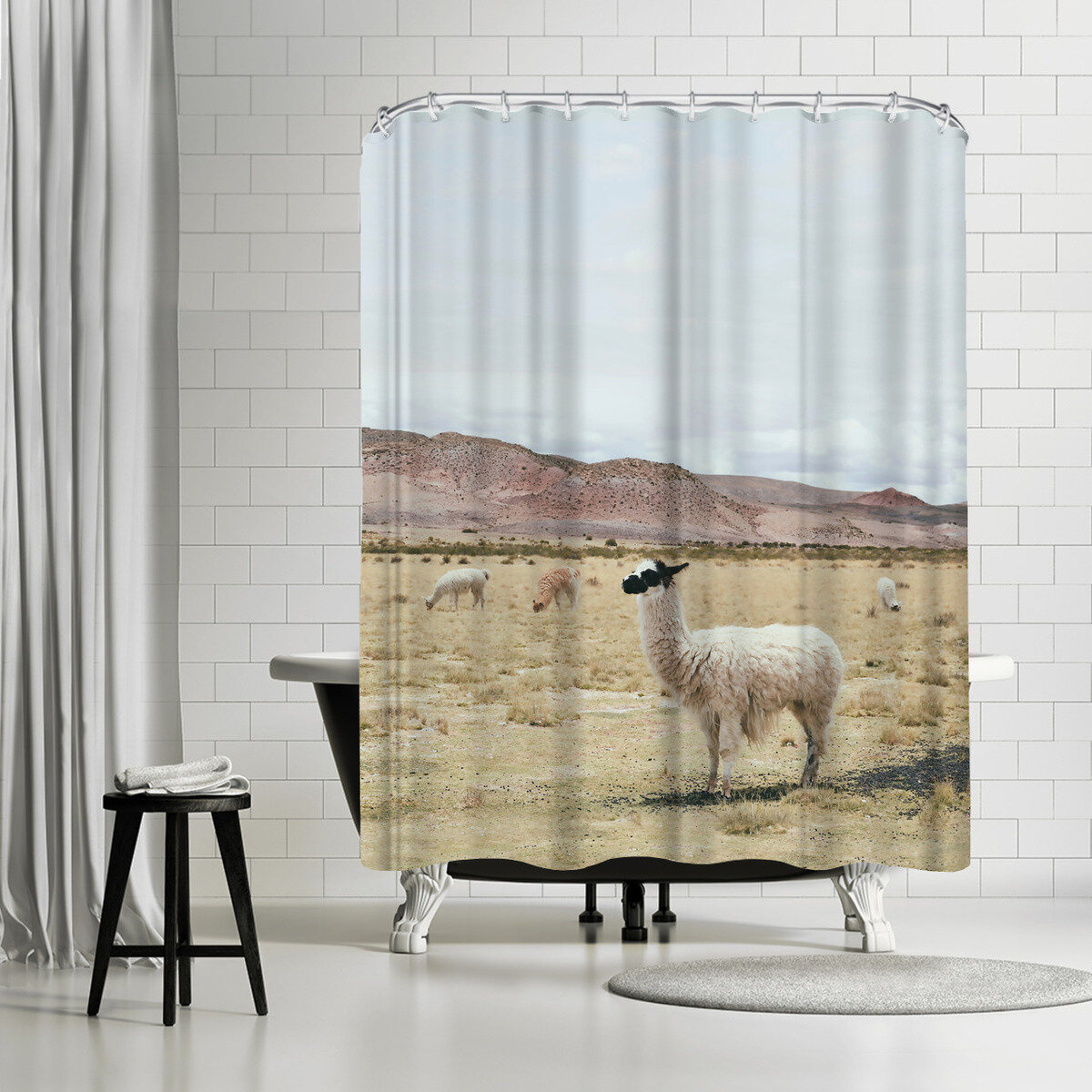East Urban Home Sisi And Seb Alpaca Single Shower Curtain Wayfair