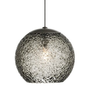 Mackin Round 1-Light Globe Pendant by Ivy Bronx