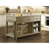 Garrett Kitchen Island by Gracie Oaks
