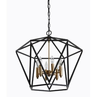 Malwae Metal 6-Light Geometric..