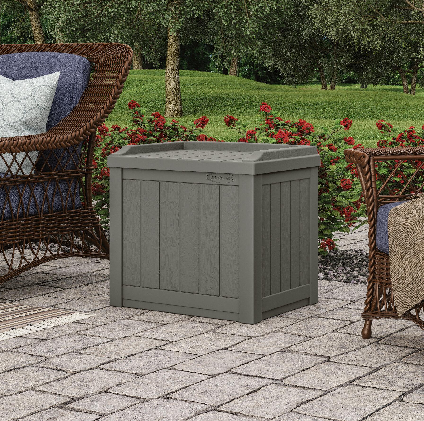 Phenomenal 22 Gallon Plastic Resin Storage Bench Dailytribune Chair Design For Home Dailytribuneorg