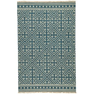 Guillermo Blue Ivory Geometric Area Rug