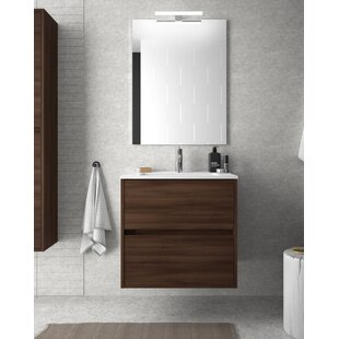 Review Elrod 610mm Wall Hung Single Vanity Unit