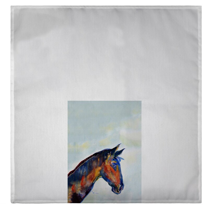 Horse plush bathroom accessory hand towel decor