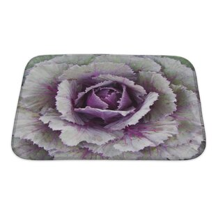 Flowers Ornamental Cabbage Bath Rug