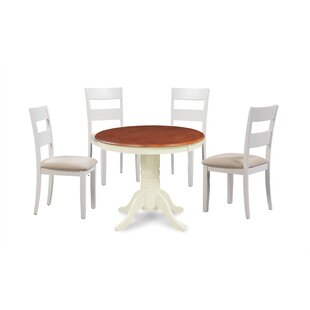 August Grove Avula Fulantville Solid Wood 5 Piece Dining Set